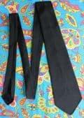 Spaniel funeral tie plain black Terylene vintage 1950s Tailor Made vgc